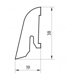 Soklová lišta obvodová Pedross SL 40