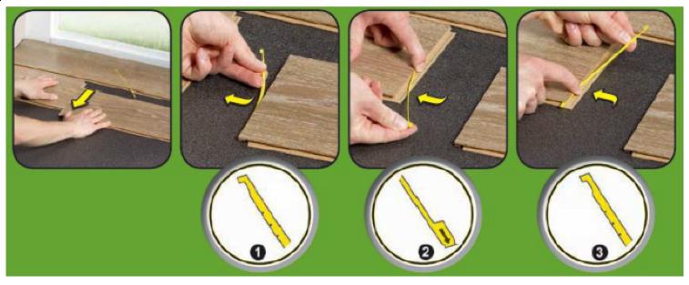 Montáž podlahy se spojem Zip'n'go - přemístění lamely